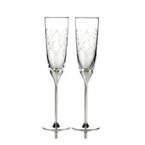 NEW!! Martha Stewart collection toasting flutes